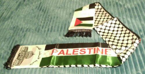 Unisex PALESTINE Fashion Scarf Al Aqsa Mosque Photo Palestine Word In English