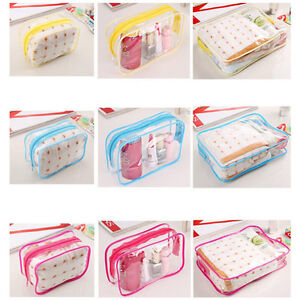PVC-Clear-Plastic-Pouch-Travel-Bathing-Toiletry-Zipper-Cosmetic-Bag-Ws-YH