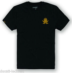 DUCATI-SCRAMBLER-Logo-Ghost-Rider-kurzarm-T-Shirt-schwarz-gelb-NEU
