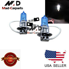 H3 55w Halogen Xenon Headlight Replacement 2x Light Bulb Lamp 6000K White