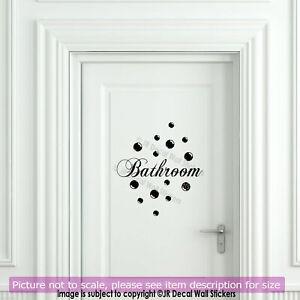 Bathroom Door Stickers E, Bathroom Door Decals