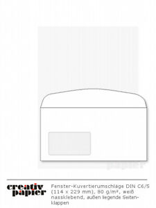 Kuvertierumschläge Kuvertier-Briefumschläge div. Formate 500-1.000 Stück