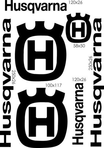 PL011 Planche stickers Husqvarna