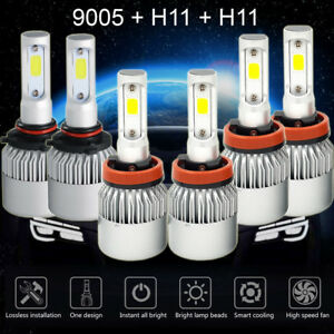 9005+H11+H11 LED Headlight Kit Hi/Lo+Fog Lights for Honda Accord 2013-2015 4500W