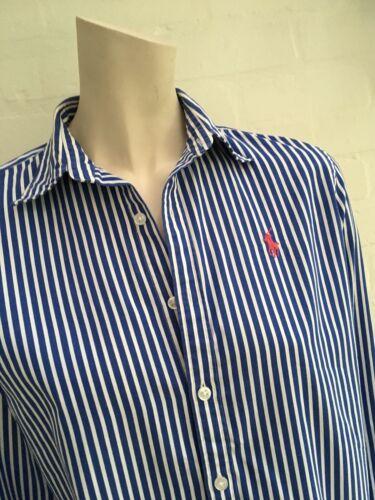 a Camicia taglia maniche Ralph slim da ufficio righe lunghe fit Uk 8 US 12 a Lauren qrwUXPBtr