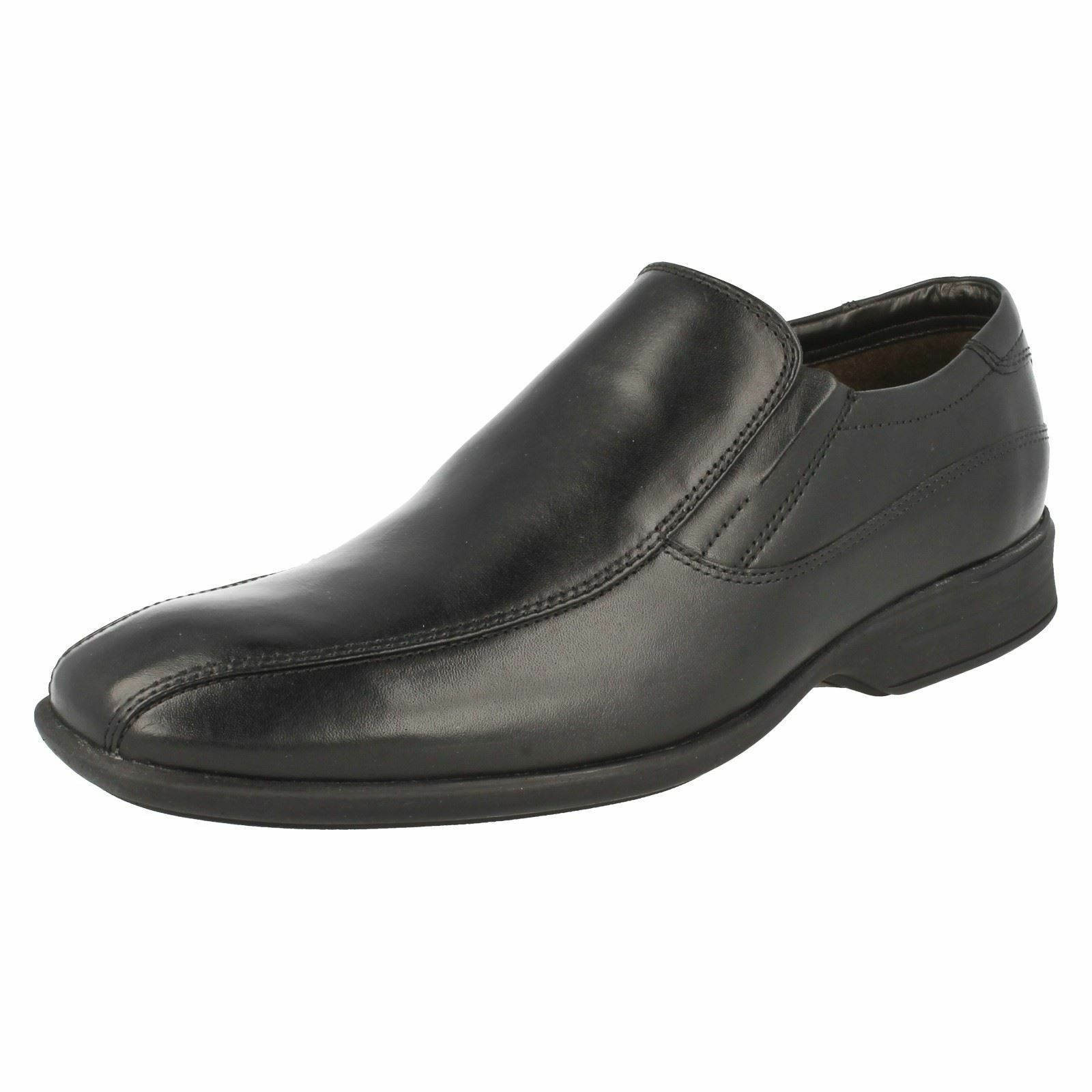 Mens Clarks Black Leather Slip On Shoes UK Sizes 6 - 11 Gadwell Stride