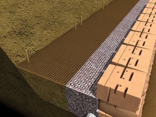 Geogrid stratagrid 200  6/'x85/'  REINFORCING MESH fabric  RETAINING WALLS