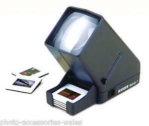 Kaiser 2005 Diascop 3 professionale 5x5 montato Slide Visore 35mm diapositive