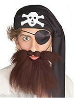 Pirate Brown Beard And Moustache Set Costume Accessory