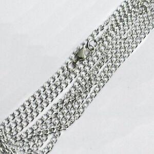 Collar-80cm-Metal-Cadena-Metal-Cadena-3mm-plata-colorido-brillante-collar