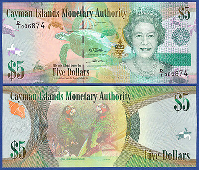 Papiergeld Welt Modest Kaimaninseln Cayman Islands 5 Dollars 2010 Unc P.39 Agreeable To Taste