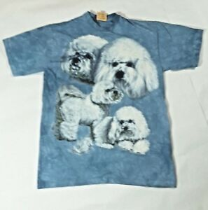 Lhasa-Apso-Dog-in-4-Poses-New-no-Tag-Sz-L-The-Mountain-100-Cotton-Tee-Shirt