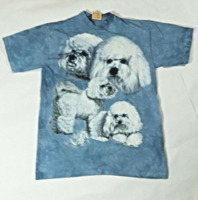Lhasa Apso Dog in 4 Poses New no Tag Sz L The Mountain 100% Cotton Tee Shirt