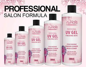 UV-Nail-Gel-Finishing-Wipe-Sticky-Residue-Remover-Cleanser-Brush-Cleaner