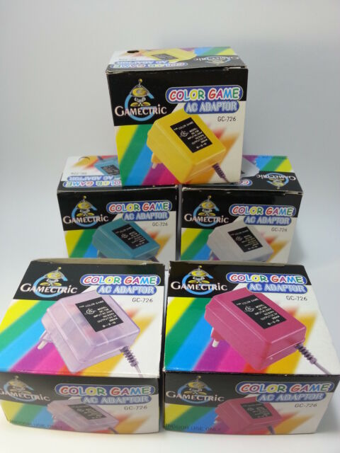 Adaptador de corriente Gameboy Color Alimentador AC/DC Game boy Color y Pocket