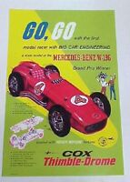 Cox Thimble Drome Gas Powered Mercedes Benz Reproduction Poster.