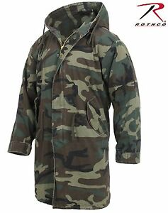 Image is loading Mens-Woodland-Camouflage-Military-Type-M51-Fishtail-Parka- b46d19d6d26