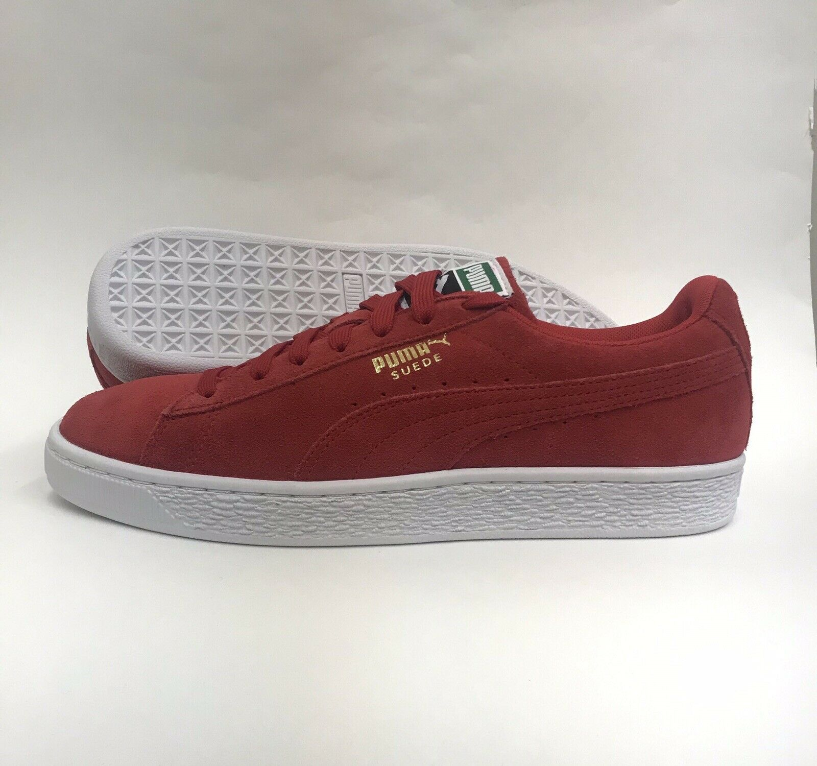 NIB Men's PUMA 356568 63 Red Suede Classic shoes Sz 11.5