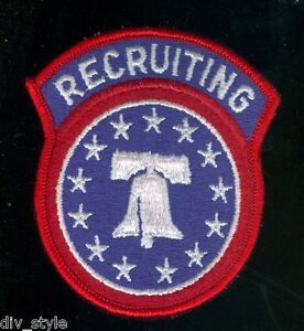 US-Army-Recruiting-Command-embroidered-patch-full-color-mint-condition-surplus