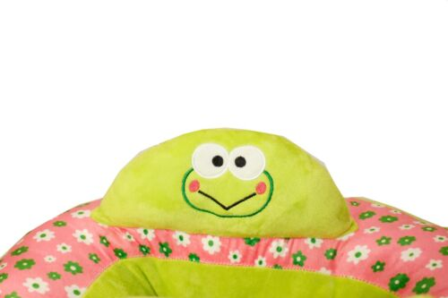 Green /& Pink Frog Baby Support Seat Sit Up Cushion Plush Chair Pillow Protector