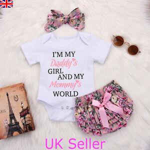 37cc82770 Newborn Baby Girls Romper Tops Jumpsuit Tutu Pants Headband Outfits ...