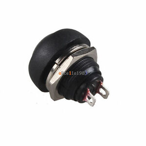 10Pcs-12mm-Waterproof-Momentary-ON-OFF-Push-Button-Mini-Round-Switch-Black