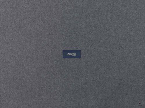 0.5 Wool Flannel Fabric Made in Italy Lanificio Zignone Mélange Grey mtr