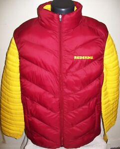 the latest 7d907 0a44d Details about WASHINGTON REDSKINS 2 Piece Nylon Systems Jacket w Vest Combo  MAROON/YELLOW LG