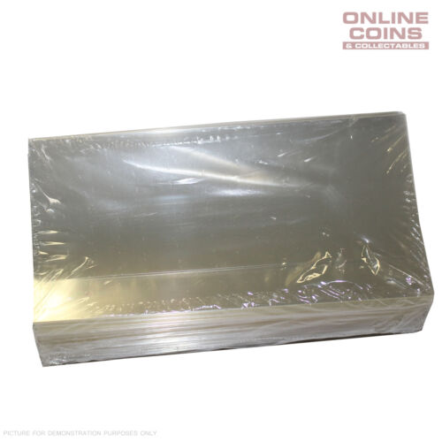 Pack of 100 Sleeves Supersafe Museum Grade Currency Holders 107.95mmx187.325mm