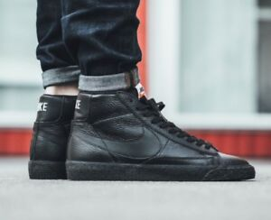 nike blazer leather premium black