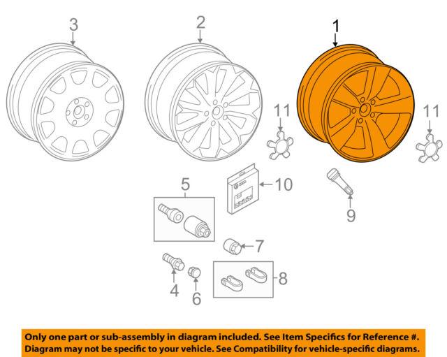 OEM Audi Allroad Wheel Rim 58922 8K0601025BM | eBay
