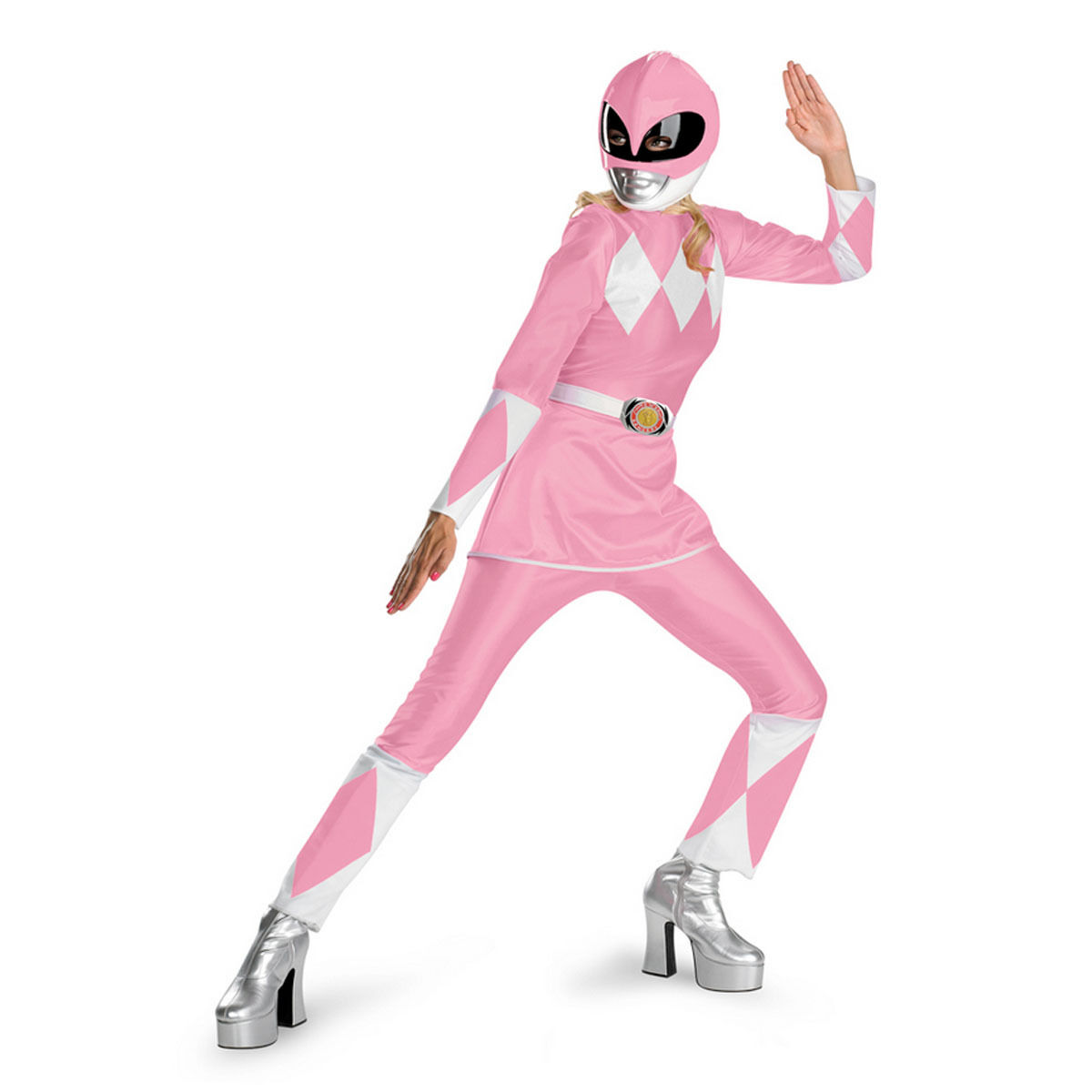 Mighty Morphin Power Rangers Pink Deluxe Adult Costume