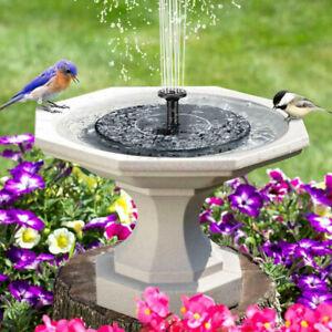 Bird-Bath-Fountain-Solar-Powered-Water-Pump-Floating-Outdoor-Pond-Garden-Pool