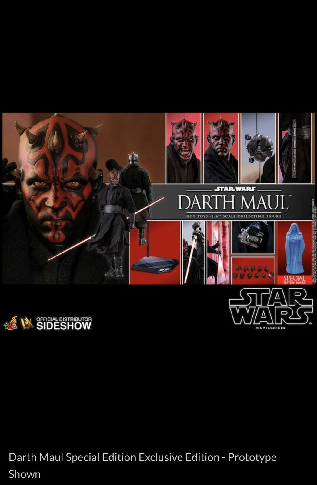 Pre Order Darth Maul Special Edition Sixth Scale Figure by Hot Toys - Exclusive