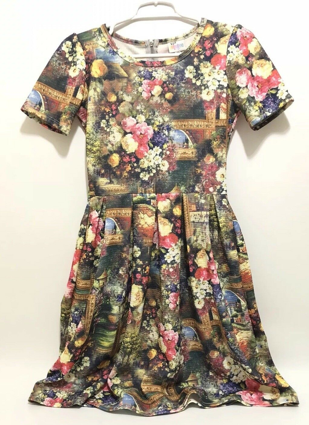 LulaRoe Amelia XS Flower Garden WaterFarbe Floral Picture Painting Frame RARE