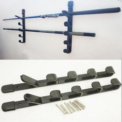 Fishing Rod Pole Reel Holder Garage Wall Mount Rods Rack Organizer Storage Stand | eBay