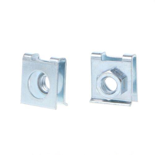 4Pcs 6mm Car License Plate Fastener Buckle Metal Screw Nut U-Type Clips Retainer