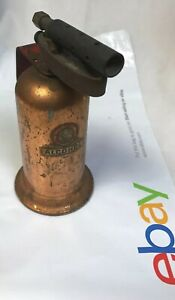 Vintage-Lenk-Mfg-Small-Alcohol-Blow-Torch-Blotorch-Copper-Tone-Full-Advertising