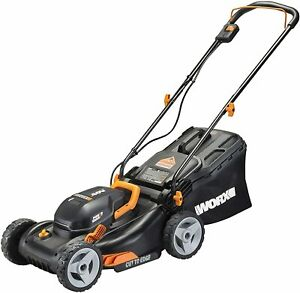 WORX-WG743-2X20V-17-034-4-0Ah-Lawn-Mower-w-Powershare-Mulching-amp-Intellicut