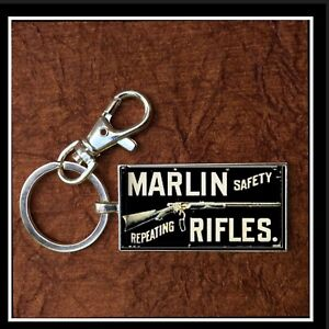 Vintage-Marlin-Repeating-Rifles-Sign-Photo-Keychain-Gift-Free-Shipping