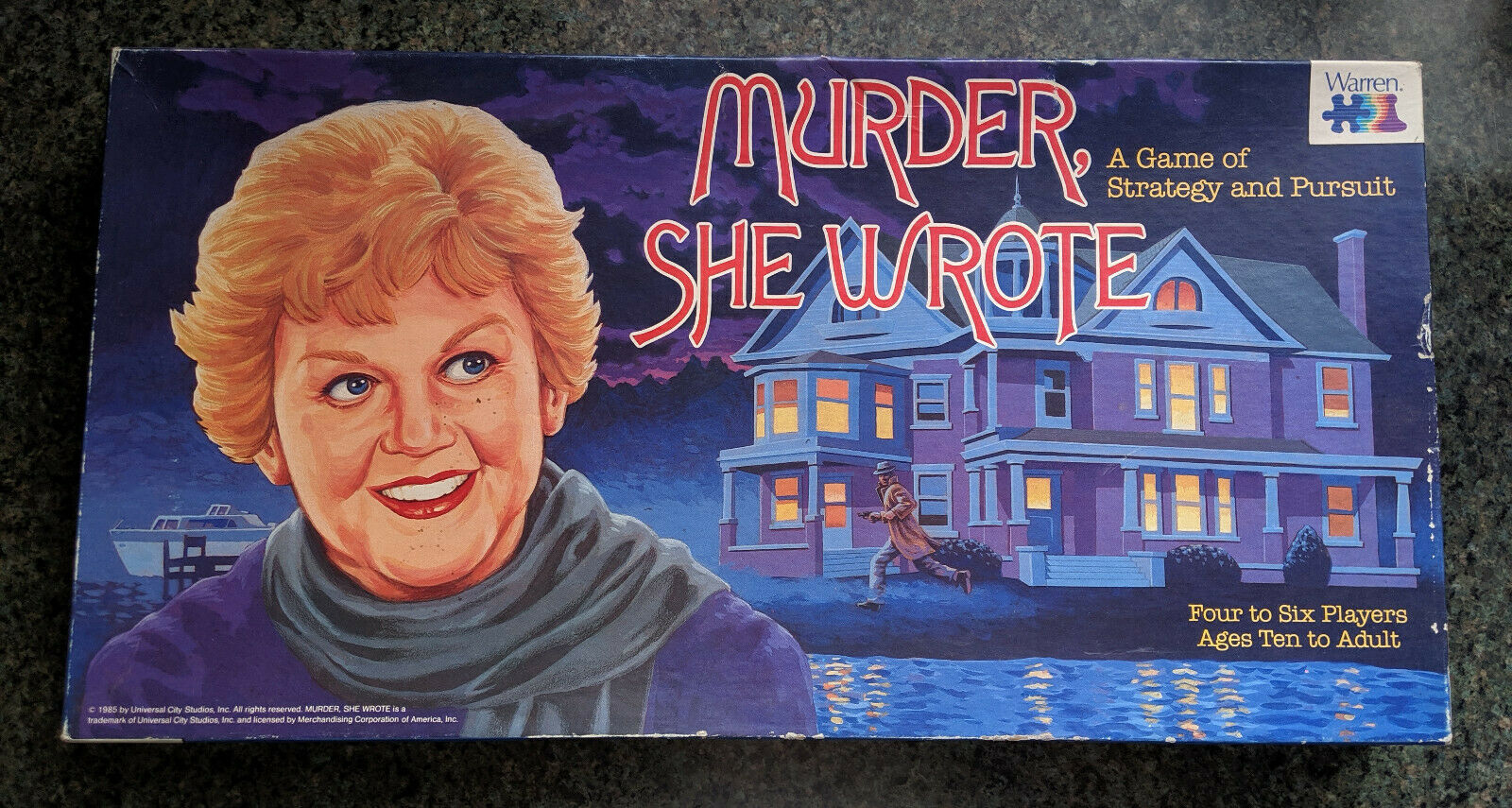 MURDER SHE WROTE - A Board Game of Strategy and Pursuit 1985 Warren Games NOS