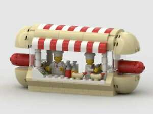 Lego-MOC-Hotdog-stall-pop-up-shop-for-your-Lego-City-PDF-Instructions-only