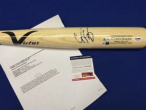 ROY Corey Seager Signed All-Star Game Used Victus Baseball Bat Rookie Graph PSA