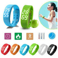 Smart Watch Bracelet Pedometer Step Distance Calorie Counter Activity Tracker