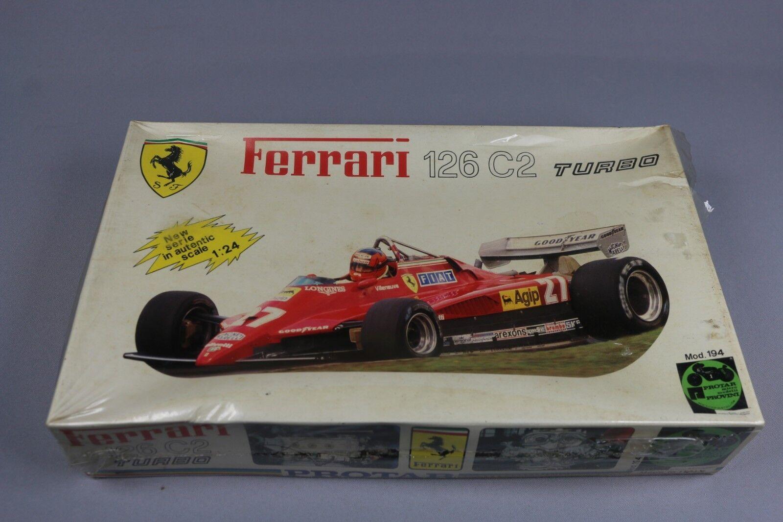 Zf1324 Protar 1 24 Model Car 194 Ferrari 126 C2 Turbo Villeneuve  27