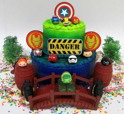 Marvel Super Hero Tsum Tsum Birthday Cake Topper I ** NEUF **