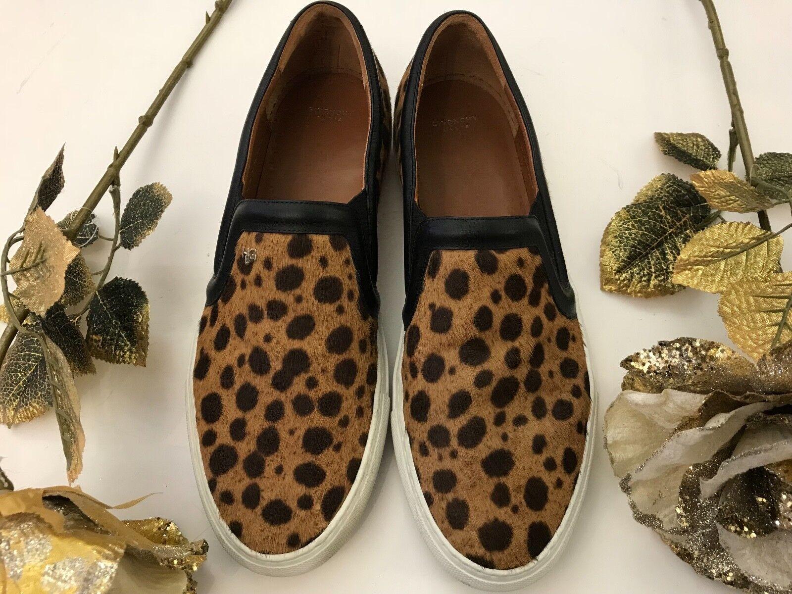 Givenchy Givenchy Givenchy Leopardo Impresión de la Pantorrilla Cabello-Resbalón en Zapatillas  más vendido