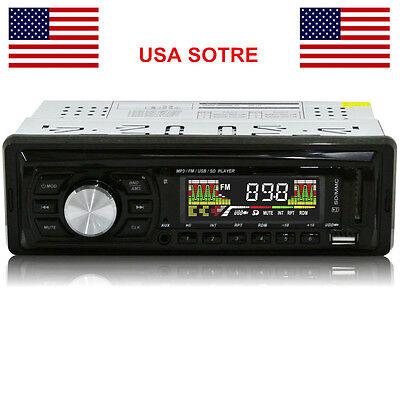 LC0502 Car FM Radio and MP3 MP4 Stereo Radio Receiver Aux USB Port SD Card Slot