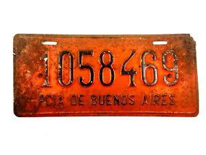 1950 Buenos Aires Argentina License Plate Automobile Original Argentine 526c