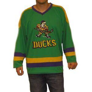 Bien éDuqué Mighty Canards Logo Hockey Jersey Film Joueurs Années 90 Costume Uniforme Pull